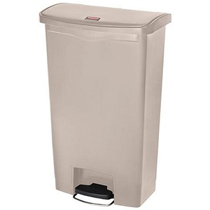 Image of Rubbermaid Slim Step Bin / 68 Litre / Beige