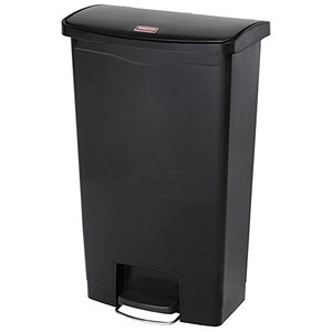 Image of Rubbermaid Slim Step Bin / 68 Litre / Black