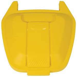 Image of Rubbermaid Mobile Container Lid - Yellow
