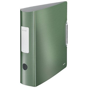 Image of Leitz Style A4 Lever Arch Files / Polypropylene / 75mm Spine / Green / Pack of 5