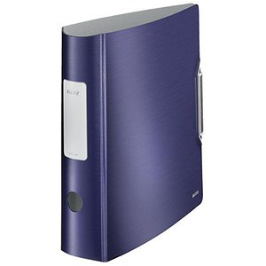 Image of Leitz Style A4 Lever Arch Files / Polypropylene / 75mm Spine / Blue / Pack of 5