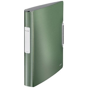 Image of Leitz Ring Binder / 4 D-Ring / 45mm Spine / 30mm Capacity / A4 / Green / Pack of 5