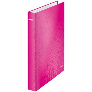 Image of Leitz WOW Ring Binder / 2 D-Ring / 40mm Spine / 25mm Capacity / A4 / Pink Pack of 10