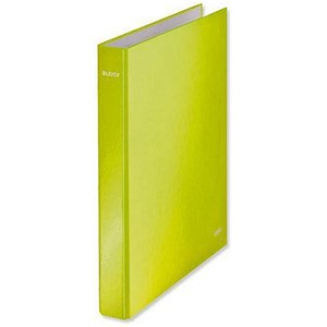 Image of Leitz WOW Ring Binder / 2 D-Ring / 40mm Spine / 25mm Capacity / A4 / Green Pack of 10