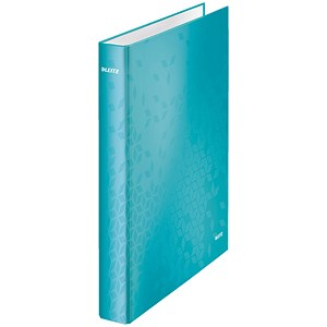Image of Leitz WOW Ring Binder / A4 / 25mm Capacity / Ice Blue / Pack of 10