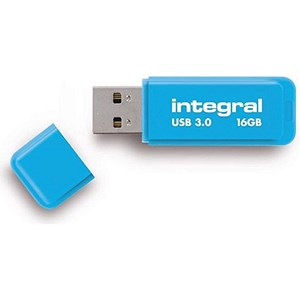 Image of Integral Neon USB 3.0 Flash Drive / 16GB / Blue