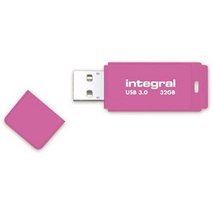 Image of Integral Neon USB 3.0 Flash Drive / 32GB / Pink