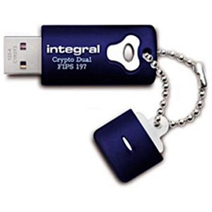 Image of Integral Crypto Dual Flash Drive / USB 2.0 / FIPS 197 / 256-bit Encryption / 16GB