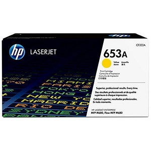 Image of HP 653A Yellow Laser Toner Cartridge