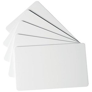 Image of Duracard ID300 Standard Plastic Cards / 54x87mm / Clear / Pack of 100