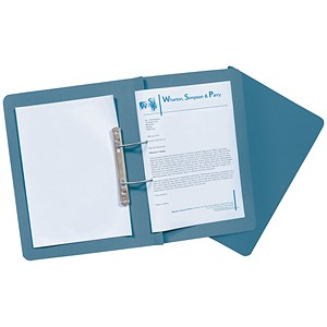 Image of Guildhall Transfer Spring Files Heavyweight 420gsm Capacity 38mm Foolscap Blue Ref 211/7000Z [Pack 25]