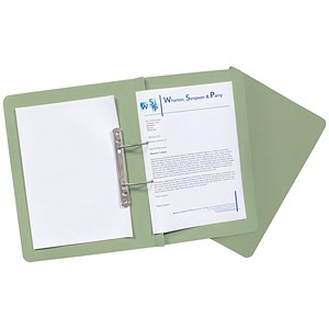 Image of Guildhall Transfer Spring Files Heavyweight 420gsm Capacity 38mm Foolscap Green Ref 211/7002Z [Pack 25]