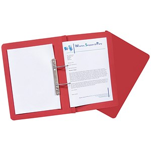 Image of Guildhall Transfer Spring Files Heavyweight 420gsm Capacity 38mm Foolscap Red Ref 211/7005Z [Pack 25]