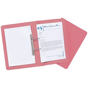 Image of Guildhall Transfer Spring Files 315gsm Capacity 38mm Foolscap Pink Ref 348-PNKZ [Pack 50]