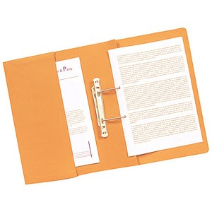 Image of Guildhall Transfer Spring Files with Inside Pocket 315gsm 38mm Foolscap Orange Ref 349-ORGZ [Pack 25]