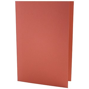 Image of Guildhall Square Cut Folders / 315gsm / Foolscap / Red / Pack of 100