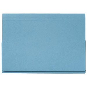 Image of Guildhall Full Flap Legal Document Wallets / 315gsm / W356xH254mm / Blue / Pack of 50