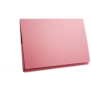 Image of Guildhall Full Flap Legal Document Wallets / 315gsm / W356xH254mm / Pink / Pack of 50