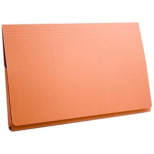 Image of Guildhall Document Wallet Full Flap 315gsm Capacity 35mm Foolscap Orange Ref PW2-ORGZ [Pack 50]