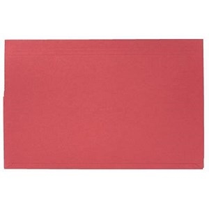 Image of Guildhall Document Wallets Full Flap / 315gsm / Foolscap / Red / Pack of 50
