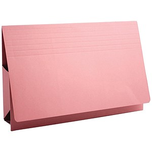 Image of Guildhall Probate Wallets / Manilla / 315gsm / 75mm / Foolscap / Pink / Pack of 25