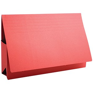 Image of Guildhall Probate Wallets / Manilla / 315gsm / 75mm / Foolscap / Red / Pack of 25