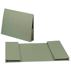 Image of Guildhall Legal Wallets / Double 35mm Pocket / Manilla / 315gsm / Foolscap / Green / Pack of 25