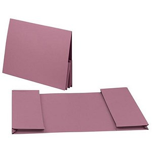 Image of Guildhall Legal Wallets / Double 35mm Pocket / Manilla / 315gsm / Foolscap / Pink / Pack of 25