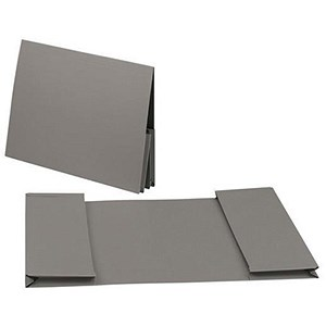 Image of Guildhall Legal Wallets / Double 35mm Pocket / Manilla / 315gsm / Foolscap / Grey / Pack of 25