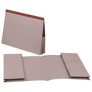 Image of Guildhall Legal Wallets / Double 35mm Pocket / Reinforced Manilla / 315gsm / Foolscap / Buff / Pack of 25