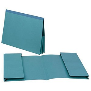 Image of Guildhall Legal Wallets / Double 35mm Pocket / Reinforced Manilla / 315gsm / Foolscap / Blue / Pack of 25