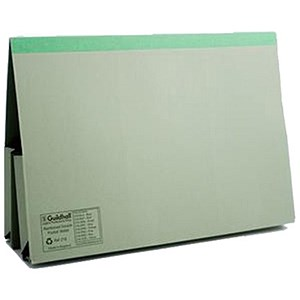 Image of Guildhall Legal Wallets / Double 35mm Pocket / Reinforced Manilla / 315gsm / Foolscap / Green / Pack of 25