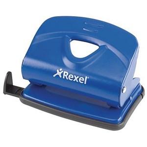 Image of Rexel V220 Value 2-Hole Punch / Blue / Punch capacity: 20 Sheets