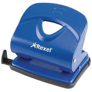 Image of Rexel V230 Value 2-Hole Punch / Blue / Punch capacity: 30 Sheets