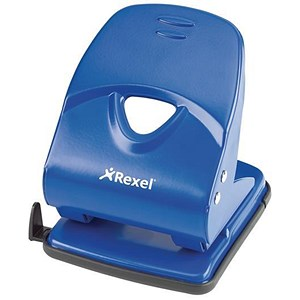 Image of Rexel V240 Value 2-Hole Punch / Blue / Punch capacity: 40 Sheets