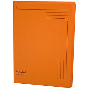 Image of Guildhall Slipfile / 230gsm / A4 / Orange / Pack of 50