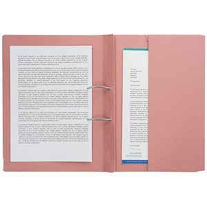 Image of Guildhall Transfer Spring File 315gsm Back Pocket Foolscap Pink 211/9064Z [Pack 25]