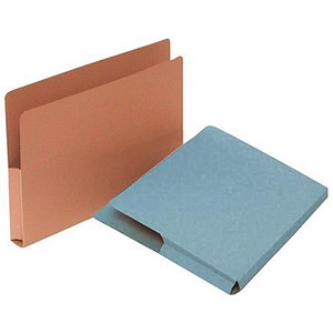 Image of Guildhall Open Top Wallet 315gsm Gussetted Capacity 35mm Foolscap Blue Ref OTW-BLUZ [Pack 50]