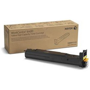 Image of Xerox WorkCentre 6400 High Yield Yellow Laser Toner Cartridge