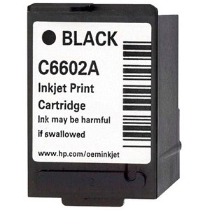 Image of HP Black Generic Inkjet Print Cartridge - C6602A