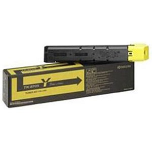 Image of Kyocera TK-8705Y Yellow Laser Toner Cartridge
