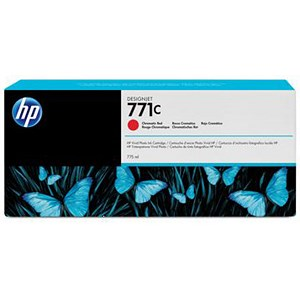 Image of HP 771C DesignJet Chromatic Red Ink Cartridge
