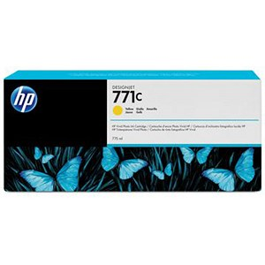 Image of HP 771C DesignJet Yellow Ink Cartridge