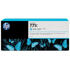 Image of HP 771C DesignJet Light Cyan Ink Cartridge
