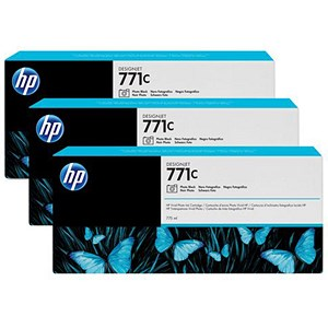 Image of HP 771C DesignJet Photo Black Ink Cartridge (3 Pack)