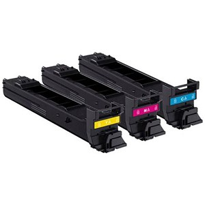 Image of Konica Minolta A0DKJ51 Laser Toner Cartridge Value Pack - Cyan, Magenta and Yellow (3 Cartridges)