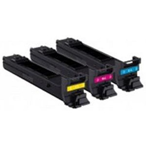 Image of Konica Minolta A0DKJ52 High Yield Laser Toner Cartridge Value Pack - Cyan, Magenta and Yellow (3 Cartridges)