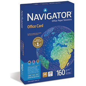 Image of Navigator A4 Premium High Quality Office Card / Bright White / 160gsm (250 Sheets)