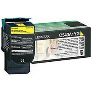 Image of Lexmark C540A1YG Yellow Laser Toner Cartridge