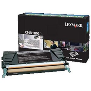 Image of Lexmark X746H1KG High Yield Black Laser Toner Cartridge